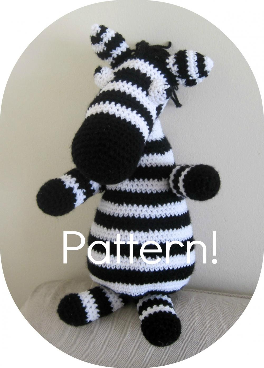 Crochet Patterns Zebra : pattern zebra amigurumi toy crochet tutorial pdf crochet pattern zebra ...