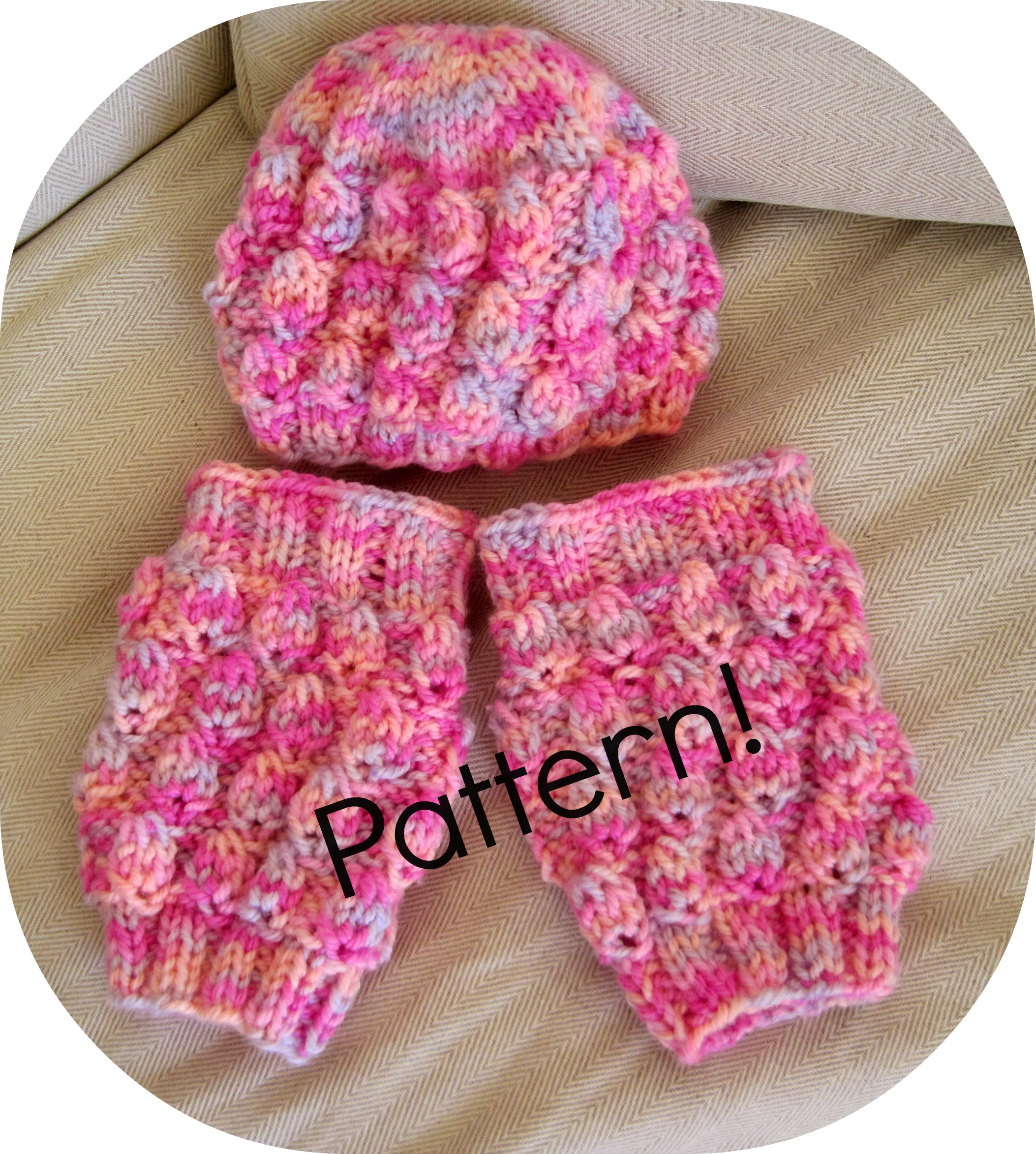 Free Knitting Pattern Baby Leg Warmers : Knitting Baby Set Pattern, Hat And Leg Warmers - Knitting Tutorial PDF on Luulla